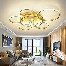 Modern Ceiling Fan with Lighting Dimmable with