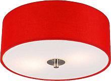 Modern Ceiling Lamp 30cm Red - Drum