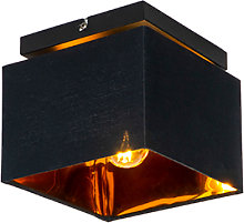 Modern ceiling lamp black with gold - VT 1