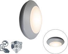 Modern ceiling lamp gray IP65 - Bertina