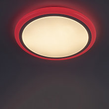 Modern ceiling lamp white incl. RGB LED with