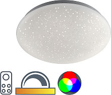 Modern ceiling lamp white with star effect incl.