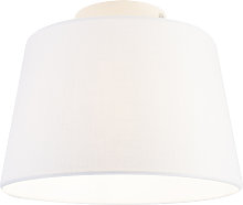 Modern ceiling lamp with white shade 25 cm - Combi