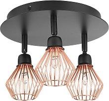 Modern Ceiling Light Adjustable Metal Copper
