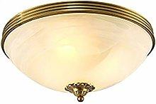 Modern Ceiling Light Brushed Brass Hanging Lamp