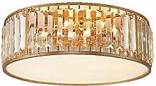 Modern Ceiling Light Crystal Brushed Brass Hanging