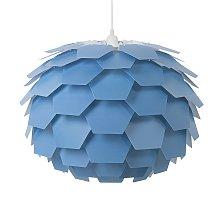 Modern Ceiling Pendant Light Blue Geometric Shade