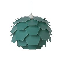 Modern Ceiling Pendant Light Green Geometric Shade