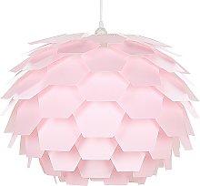 Modern Ceiling Pendant Light Pink Geometric Shade