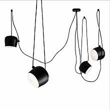 Modern Ceiling Pendant Light Shade Black, Led 12w