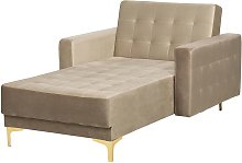 Modern Chaise Lounge Reclining Day Bed Beige