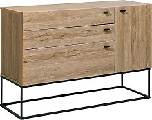 Modern Chest of Drawers Cabinet Metal Black Base