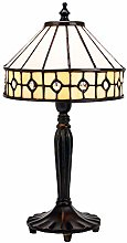 Modern Chic Opal White Tiffany Lamp with Small