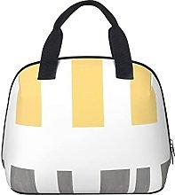 Modern Chic Stripes Yellow and Gray Waterproof