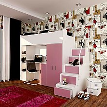 Modern Childrens High Sleeper Cabin Bed with
