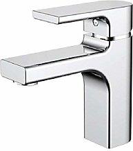 Modern chrome brass desk mounted single hole basin