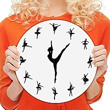 Modern Clock With Dancing Ballet Pointer, Plastic