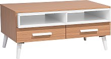 Modern Coffee Table Light Wood Solid Wood Legs