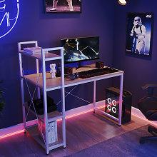 Modern Computer Desk Laptop Table With Bookshelf,