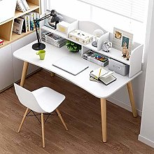 Modern Computer Desk with 5 Open Storage Shelves