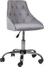 Modern Contemporary Grey Velvet Desk Office Chair