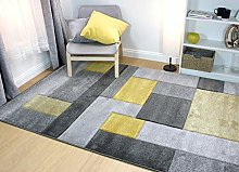 Modern Contemporary Hand Carved Cosmos Durable Rug