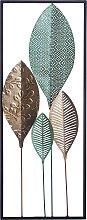 Modern Contemporary Multicolour Metal Leaf Wall