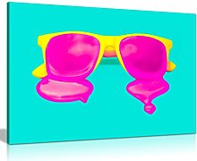Modern Contemporary Pop Art Cool Yellow Pink