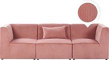 Modern Corduroy 3 Seater Modular Sofa with Cushion
