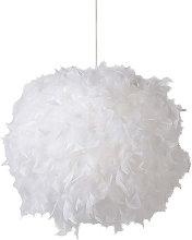Modern creative feather pendant light interior