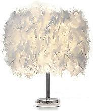 Modern creativity feather table lamp, E27 bedroom