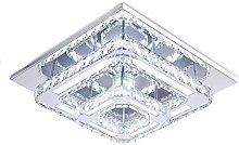 Modern Crystal Ceiling Light, 2-Square Chandelier