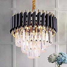Modern Crystal Chandelier Light 3 Tiers Raindrop