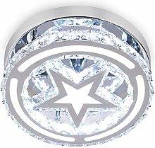 Modern Crystal Chandelier Lighting Flush Mount LED