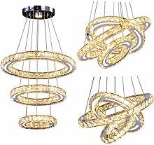 Modern Crystal Chandeliers, LED Chandelier 3 Rings