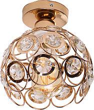 Modern crystal creative cage ceiling lamp, Ø20cm