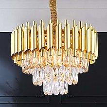 Modern Crystal Pendant Light 3 Tiers Raindrop