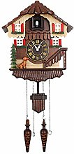 Modern Cuckoo Clock German Black Forest Wood