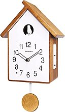 Modern Cuckoo Wall Clock, with Pendulum, Simple