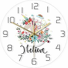 Modern decorative wall clock with watercolor