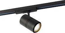 Modern dimmable 3-phase track spot black incl. LED