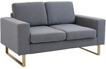 Modern Double Seat Sofa Compact Loveseat Couch