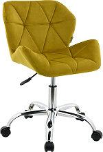 Modern Eris Padded Swivel Fabric Home Office Desk