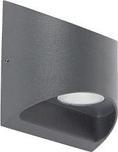 Modern exterior wall lamp dark gray incl. LED IP54