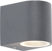Modern exterior wall lamp dark gray IP44 - Ben 1