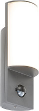Modern exterior wall lamp dark gray with motion