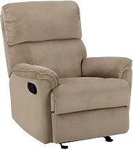 Modern Fabric Armchair Brown Polyester Upholstery