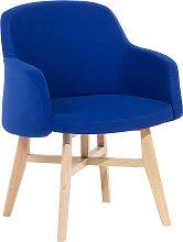 Modern Fabric Armchair Dark Blue Polyester