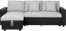 Modern Fabric Corner Sofa Pull Out Bed Left Right