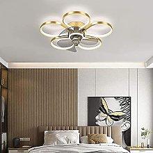 Modern Fan Ceiling Light Remote Control Quiet Fan